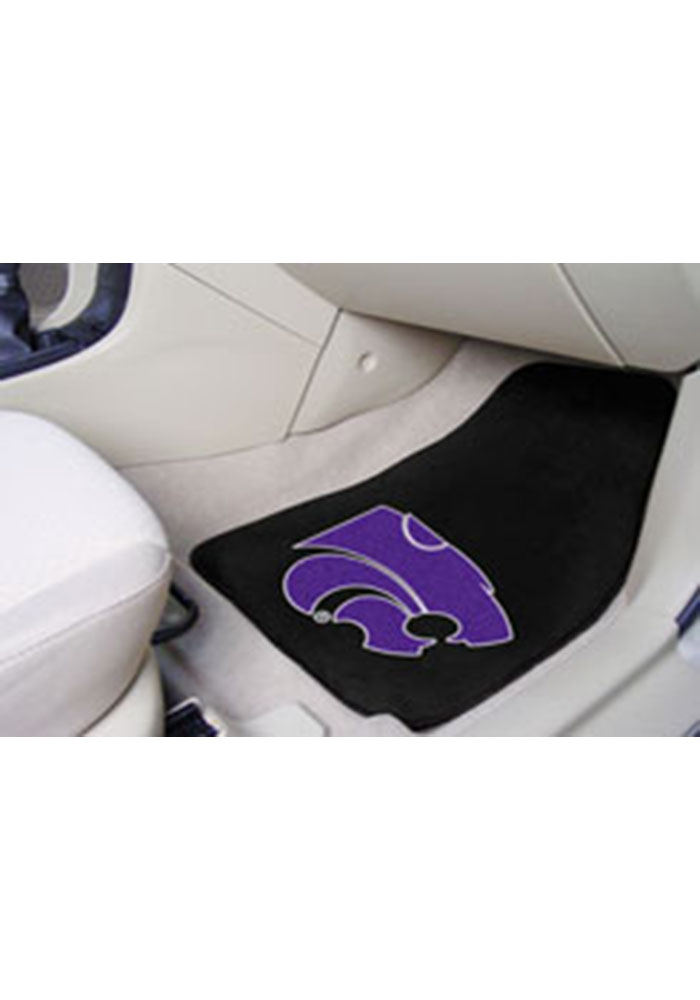 K-State Wildcats 18x27 Carpet Car Mat - Image 1