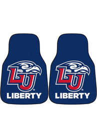 Sports Licensing Solutions Liberty Flames 2-Piece Carpet Car Mat - Navy Blue
