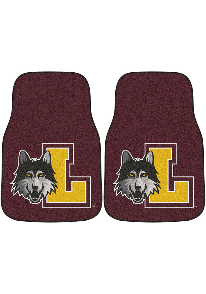 Sports Licensing Solutions Loyola Ramblers 2-Piece Carpet Car Mat - Black - Image 1