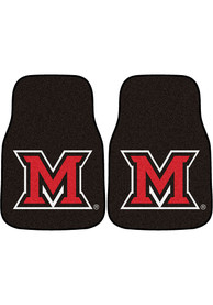 Sports Licensing Solutions Miami RedHawks 2-Piece Carpet Car Mat - Black