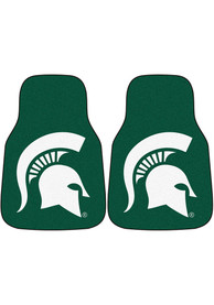 Sports Licensing Solutions Michigan State Spartans 2-Piece Carpet Car Mat - Green