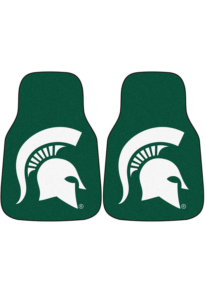 Michigan State Spartans 2-Piece Carpet Car Mat - Image 1