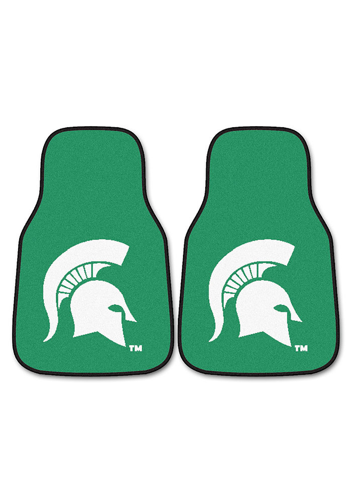 Michigan State Spartans 2-Piece Carpet Car Mat - Image 2