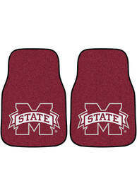 Sports Licensing Solutions Mississippi State Bulldogs 2-Piece Carpet Car Mat - Maroon