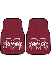 Sports Licensing Solutions Mississippi State Bulldogs 2-Piece Carpet Car Mat