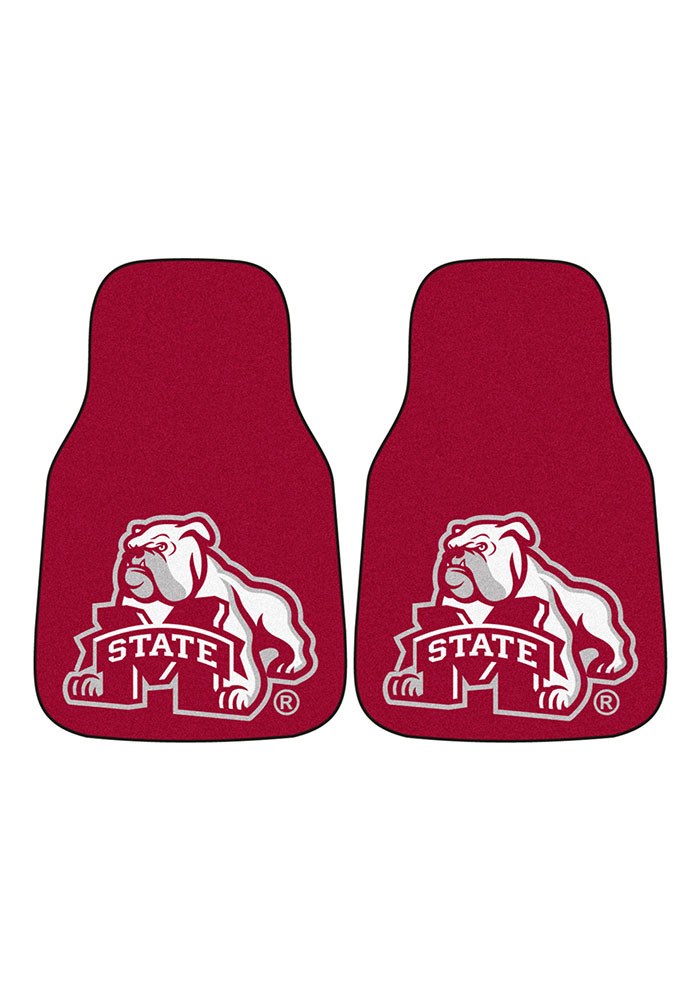 Sports Licensing Solutions Mississippi State Bulldogs 2-Piece Carpet Car Mat - Image 2