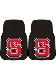 Sports Licensing Solutions NC State Wolfpack 2-Piece Carpet Car Mat - Red