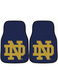 Sports Licensing Solutions Notre Dame Fighting Irish 2-Piece Carpet Car Mat - Navy Blue