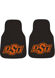 Sports Licensing Solutions Oklahoma State Cowboys 2-Piece Carpet Car Mat - Black