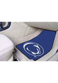 Sports Licensing Solutions Penn State Nittany Lions 2-Piece Carpet Car Mat - Navy Blue