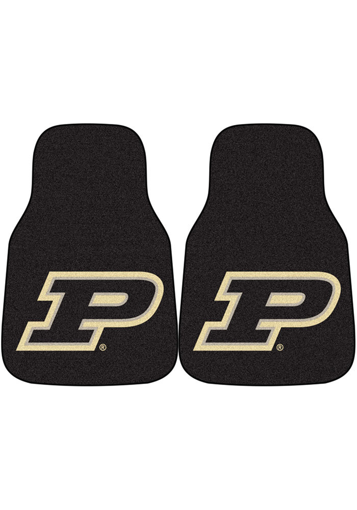 Sports Licensing Solutions Purdue Boilermakers 2-Piece Carpet Car Mat - Black - Image 1