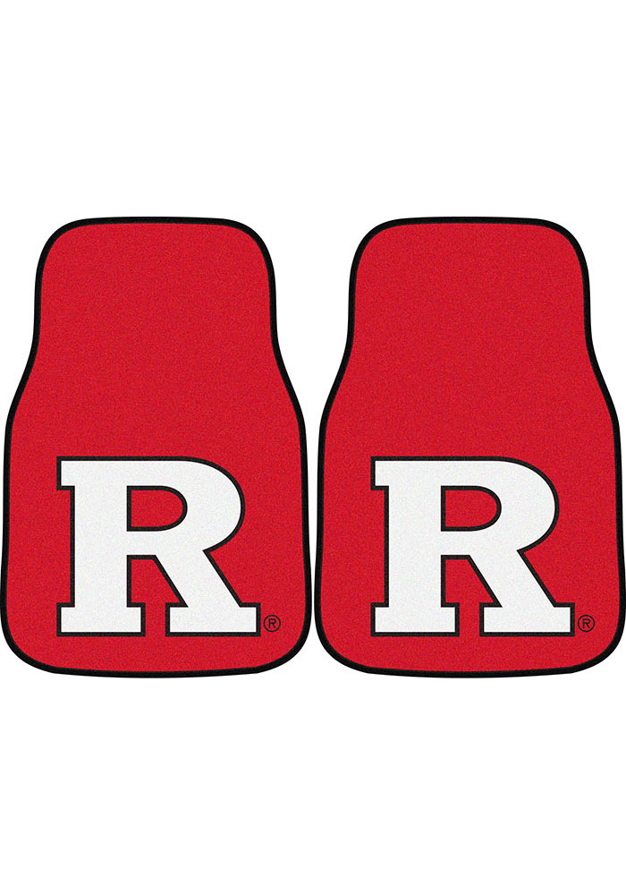 Sports Licensing Solutions Rutgers Scarlet Knights 2-Piece Carpet Car Mat - Red - Image 1