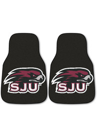 Sports Licensing Solutions Saint Josephs Hawks auto Car Mat - Black