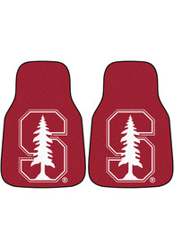 Sports Licensing Solutions Stanford Cardinal 2-Piece Carpet Car Mat - Red