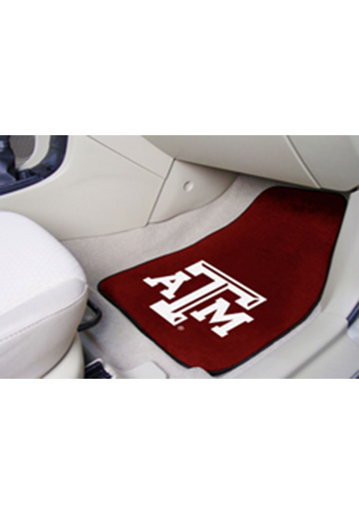 Sports Licensing Solutions Texas A&M Aggies 2-Piece Carpet Car Mat - Maroon - Image 1