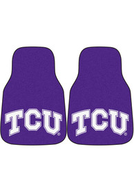 Sports Licensing Solutions TCU Horned Frogs 2-Piece Carpet Car Mat - Purple