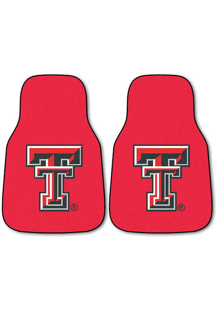 Sports Licensing Solutions Texas Tech Red Raiders 2-Piece Carpet Car Mat - Red - Image 1