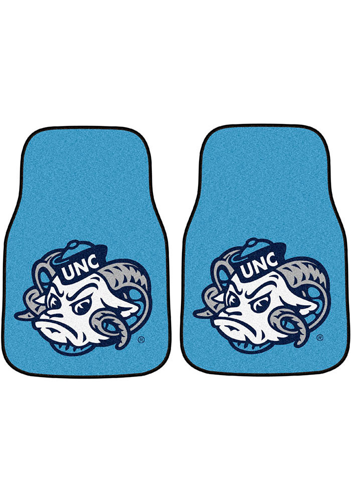 North Carolina Tar Heels 2-Piece Carpet Car Mat - Image 1