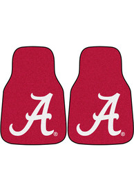 Sports Licensing Solutions Alabama Crimson Tide 2-Piece Carpet Car Mat - Red