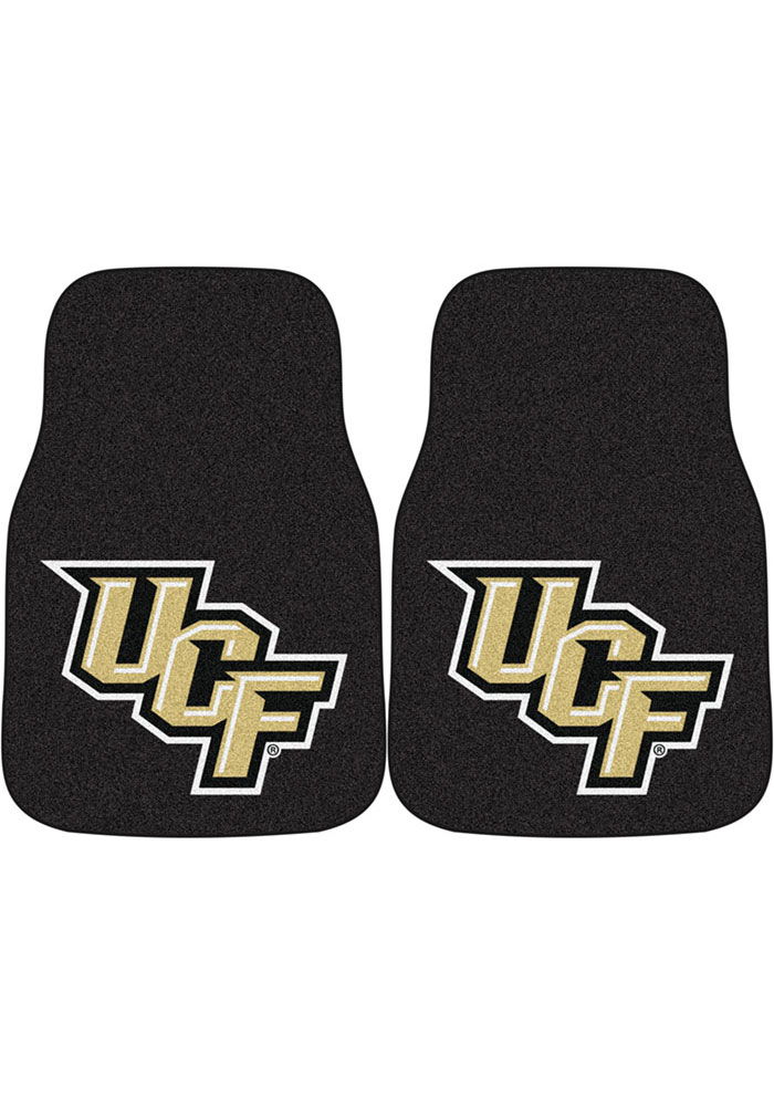 UCF Knights 2-Piece Carpet Car Mat - Image 1