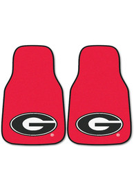 Sports Licensing Solutions Georgia Bulldogs 2-Piece Carpet Car Mat - Red