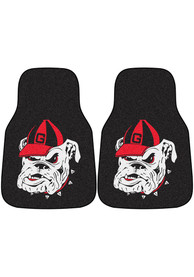 Sports Licensing Solutions Georgia Bulldogs 2-Piece Carpet Car Mat - Black