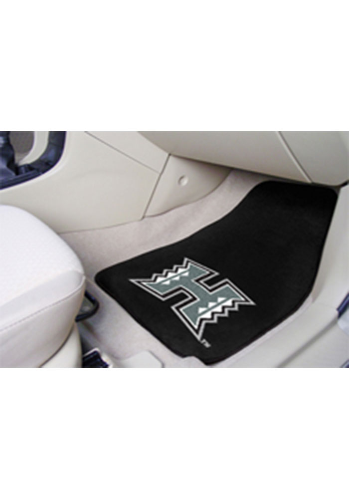 Hawaii Warriors 2-Piece Carpet Car Mat - Image 1