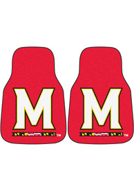 Sports Licensing Solutions Maryland Terrapins 2-Piece Carpet Car Mat - Red