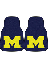 Sports Licensing Solutions Michigan Wolverines 2-Piece Carpet Car Mat - Navy Blue