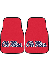 Sports Licensing Solutions Ole Miss Rebels 2-Piece Carpet Car Mat - Red