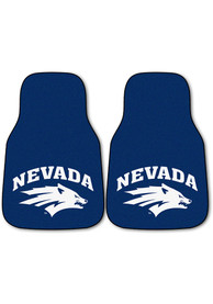 Sports Licensing Solutions Nevada Wolf Pack 2-Piece Carpet Car Mat - Blue