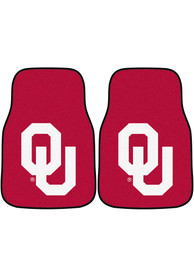 Sports Licensing Solutions Oklahoma Sooners 2-Piece Carpet Car Mat - Black