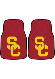 Sports Licensing Solutions USC Trojans 2-Piece Carpet Car Mat - Red