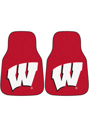 Sports Licensing Solutions Wisconsin Badgers 2-Piece Carpet Car Mat - Red