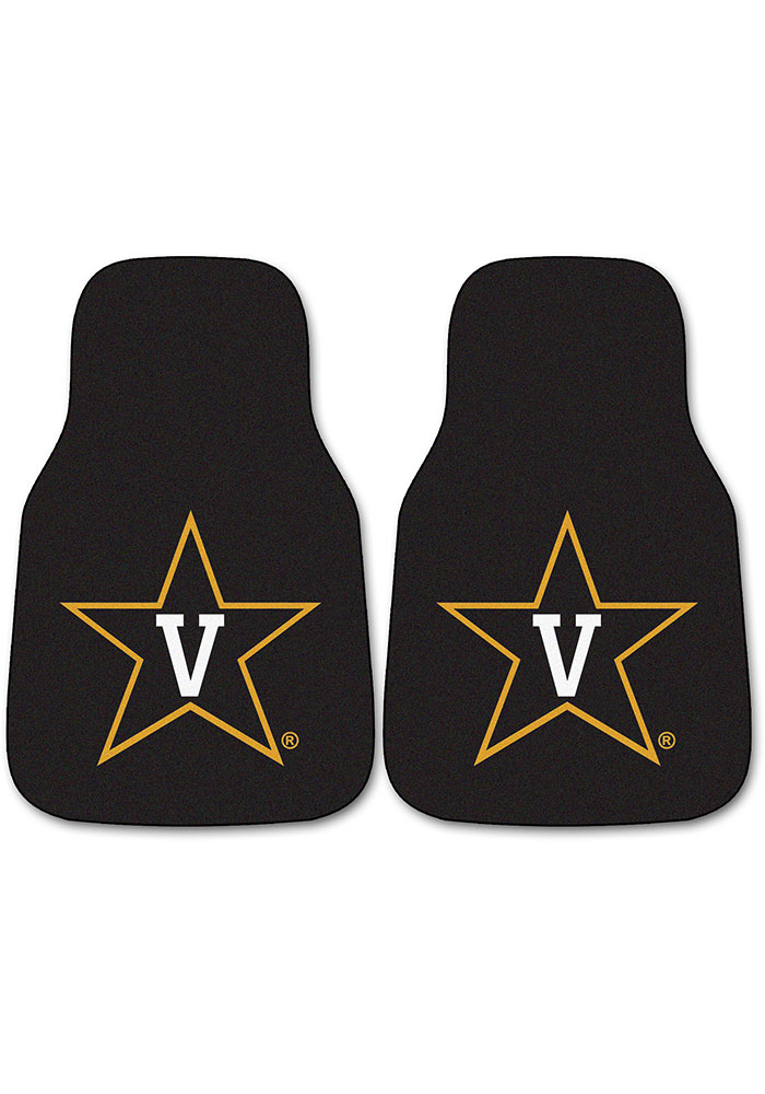 Vanderbilt Commodores 2-Piece Carpet Car Mat - Image 1