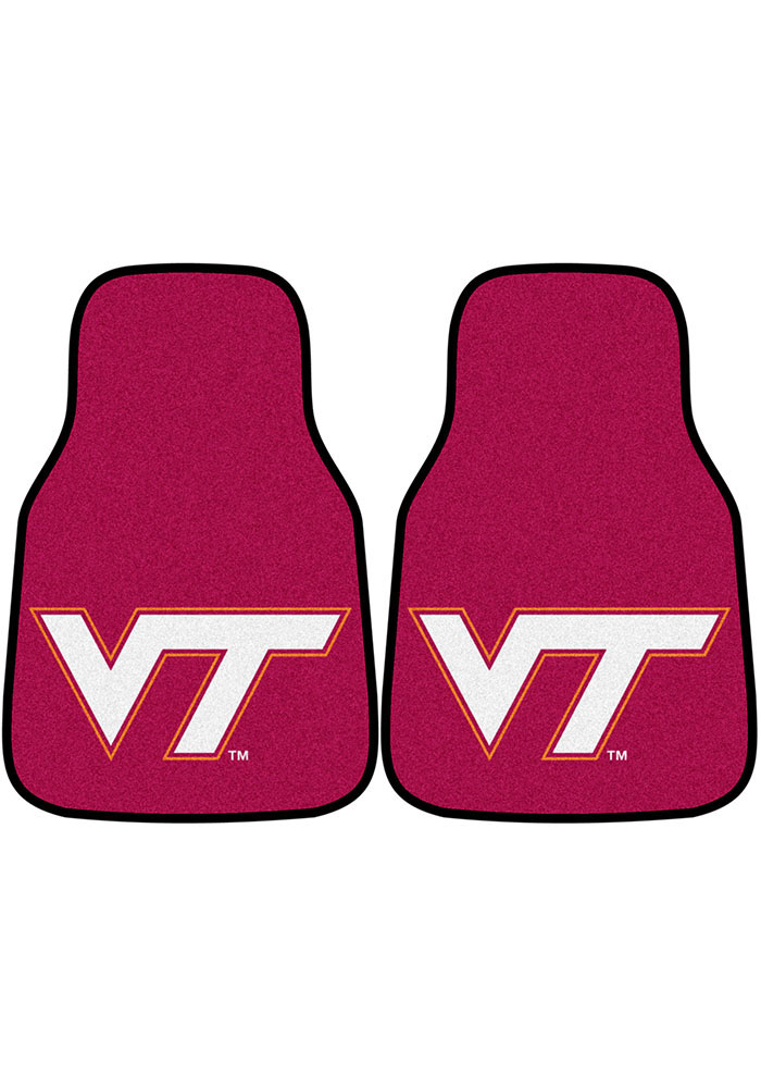 Virginia Tech Hokies 2-Piece Carpet Car Mat - Image 1