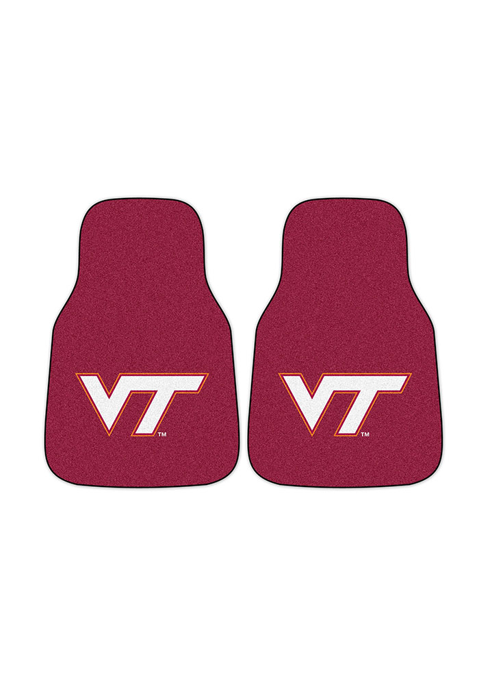 Virginia Tech Hokies 2-Piece Carpet Car Mat - Image 2