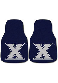Sports Licensing Solutions Xavier Musketeers 2-Piece Carpet Car Mat - Navy Blue