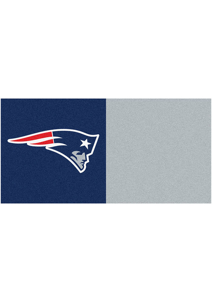 New England Patriots 18x18 Team Tiles Interior Rug - Image 1
