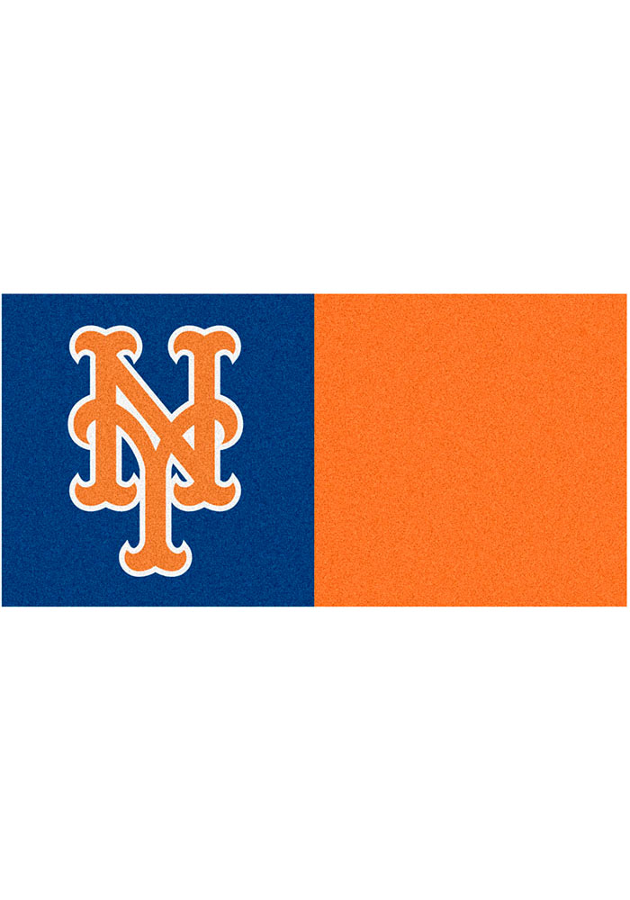 New York Mets 18x18 Team Tiles Interior Rug - Image 1