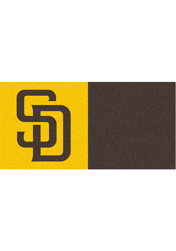 San Diego Padres 18x18 Team Tiles Interior Rug - Image 1