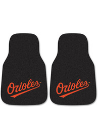 Sports Licensing Solutions Baltimore Orioles 2-Piece Carpet Car Mat - Black