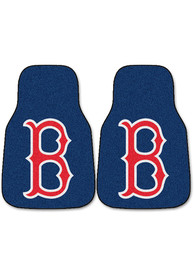Sports Licensing Solutions Boston Red Sox 2-Piece Carpet Car Mat - Navy Blue
