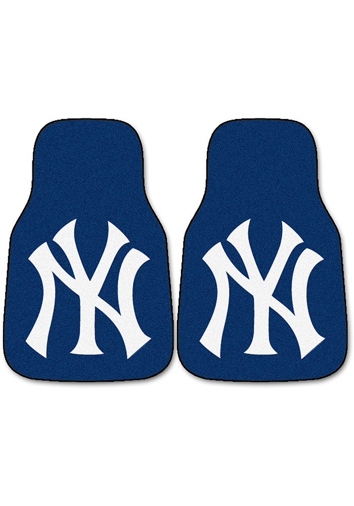 Sports Licensing Solutions New York Yankees 2-Piece Carpet Car Mat - Navy Blue - Image 1