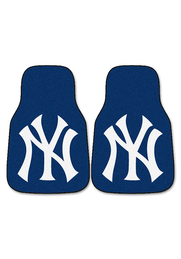 Sports Licensing Solutions New York Yankees 2-Piece Carpet Car Mat - Navy Blue - Image 2