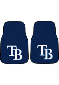 Sports Licensing Solutions Tampa Bay Rays 2-Piece Carpet Car Mat - Navy Blue