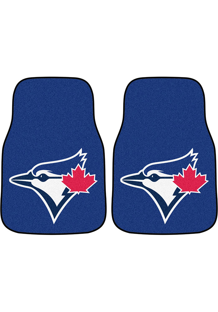 Sports Licensing Solutions Toronto Blue Jays 2-Piece Carpet Car Mat - Blue - Image 1