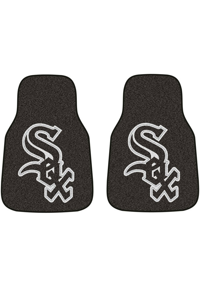 Sports Licensing Solutions Chicago White Sox 2-Piece Carpet Car Mat - Black - Image 1