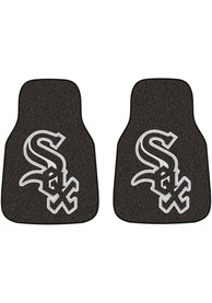 Sports Licensing Solutions Chicago White Sox 2-Piece Carpet Car Mat - Black