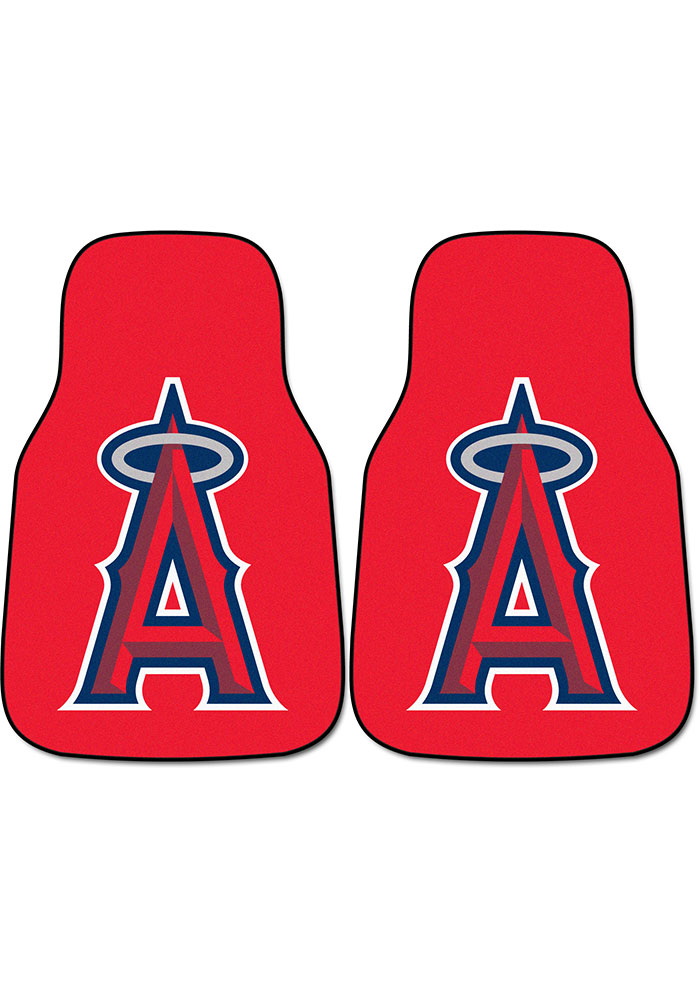 Sports Licensing Solutions Los Angeles Angels 2-Piece Carpet Car Mat - Red - Image 1